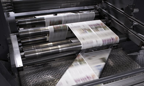 High speed newspaper printer producttesting